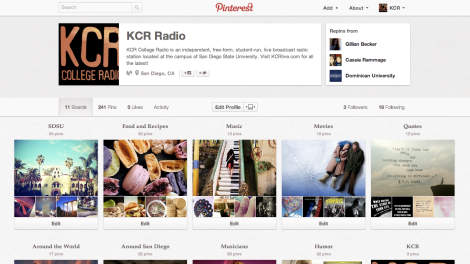 KCR College Radio Pinterest
