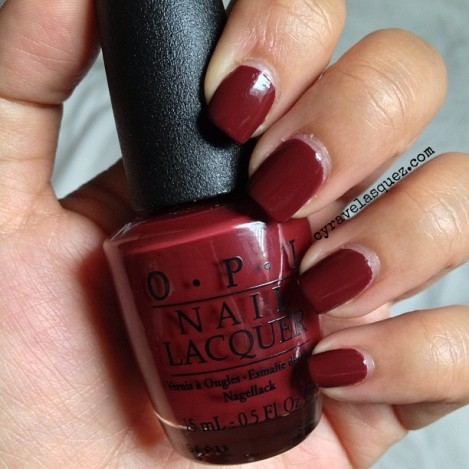 "OPI nail lacquer in ""Skyfall""."