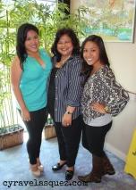 Me, mom and Alarisse.