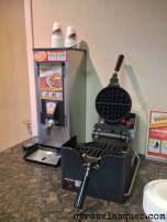 The waffle maker at the hotel. Loved this thing!