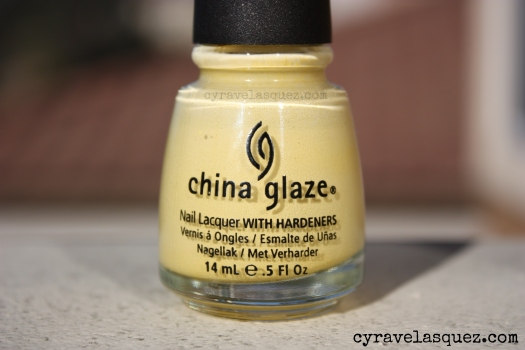 "China Glaze ""Lemon Fizz"" nail polish"