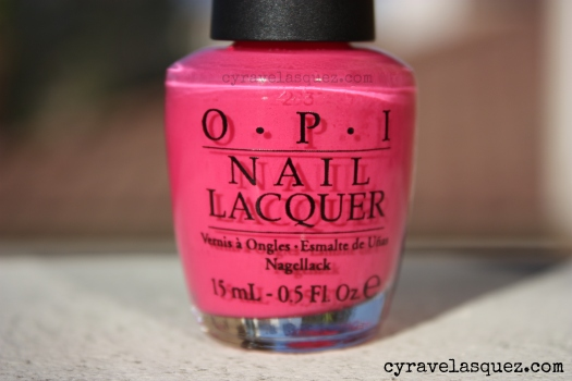 "OPI ""Strawberry Margarita"" nail polish"