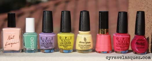 Cyra Velasquez's Top 8 Spring Nail Polishes