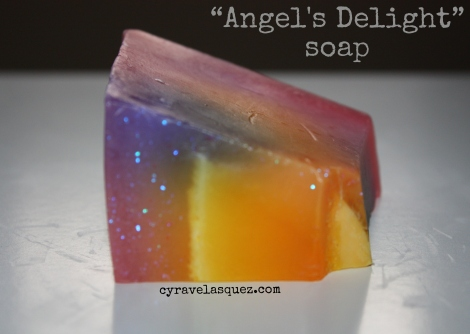 """""""Angel's Delight"""" soap from Lush Cosmetics."""