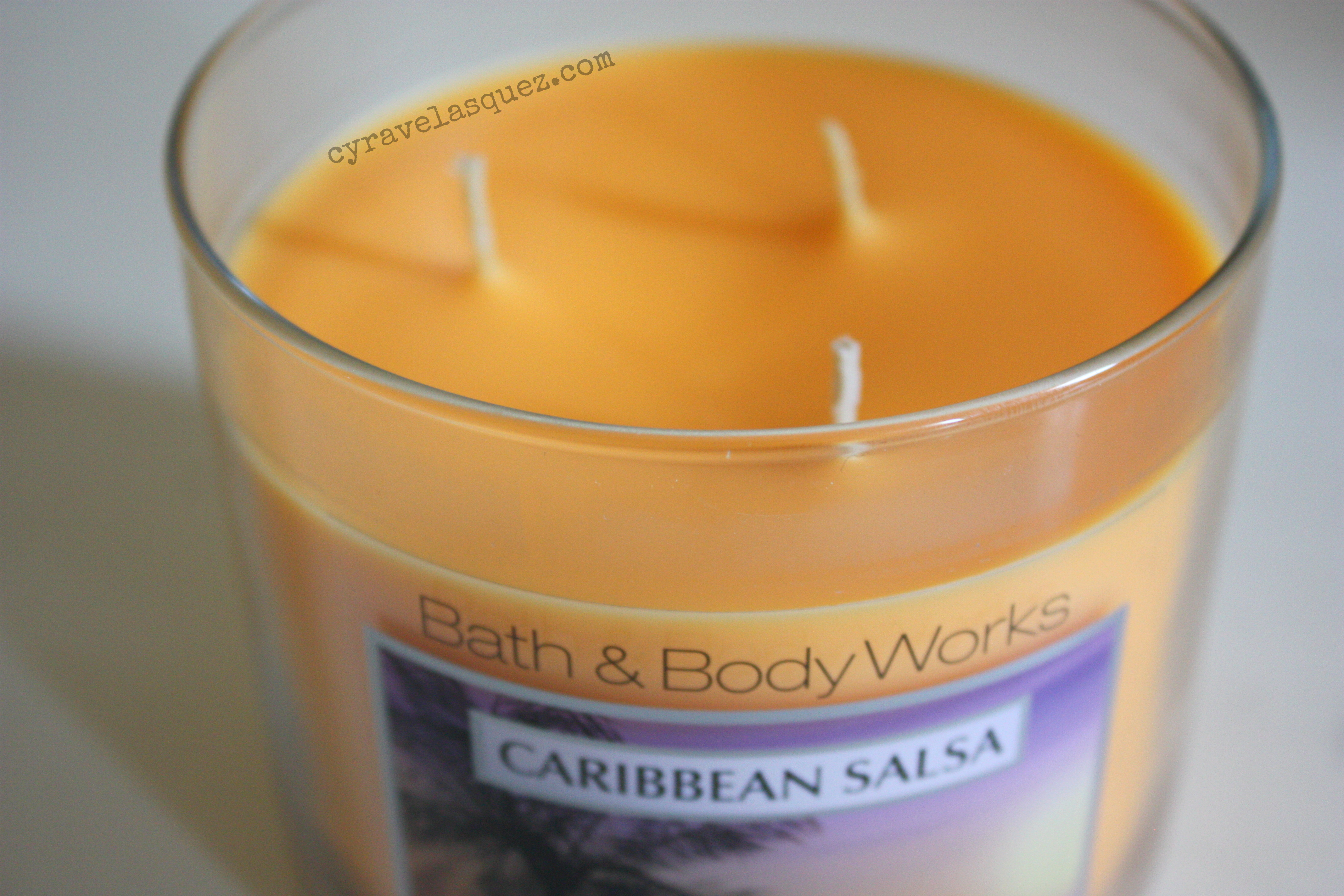 "Bath and Body Works three-wick candle in ""Caribbean Salsa"""