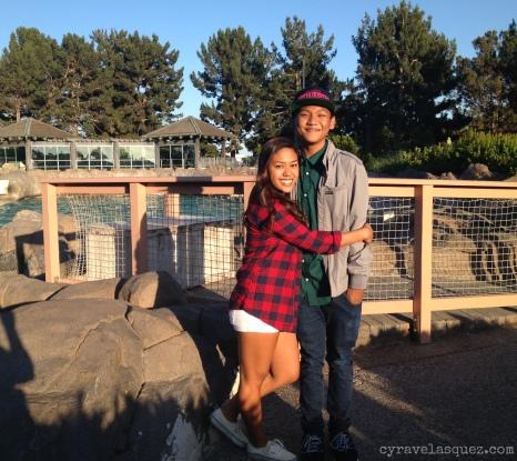 Alarisse and Brennan at SeaWorld San Diego.