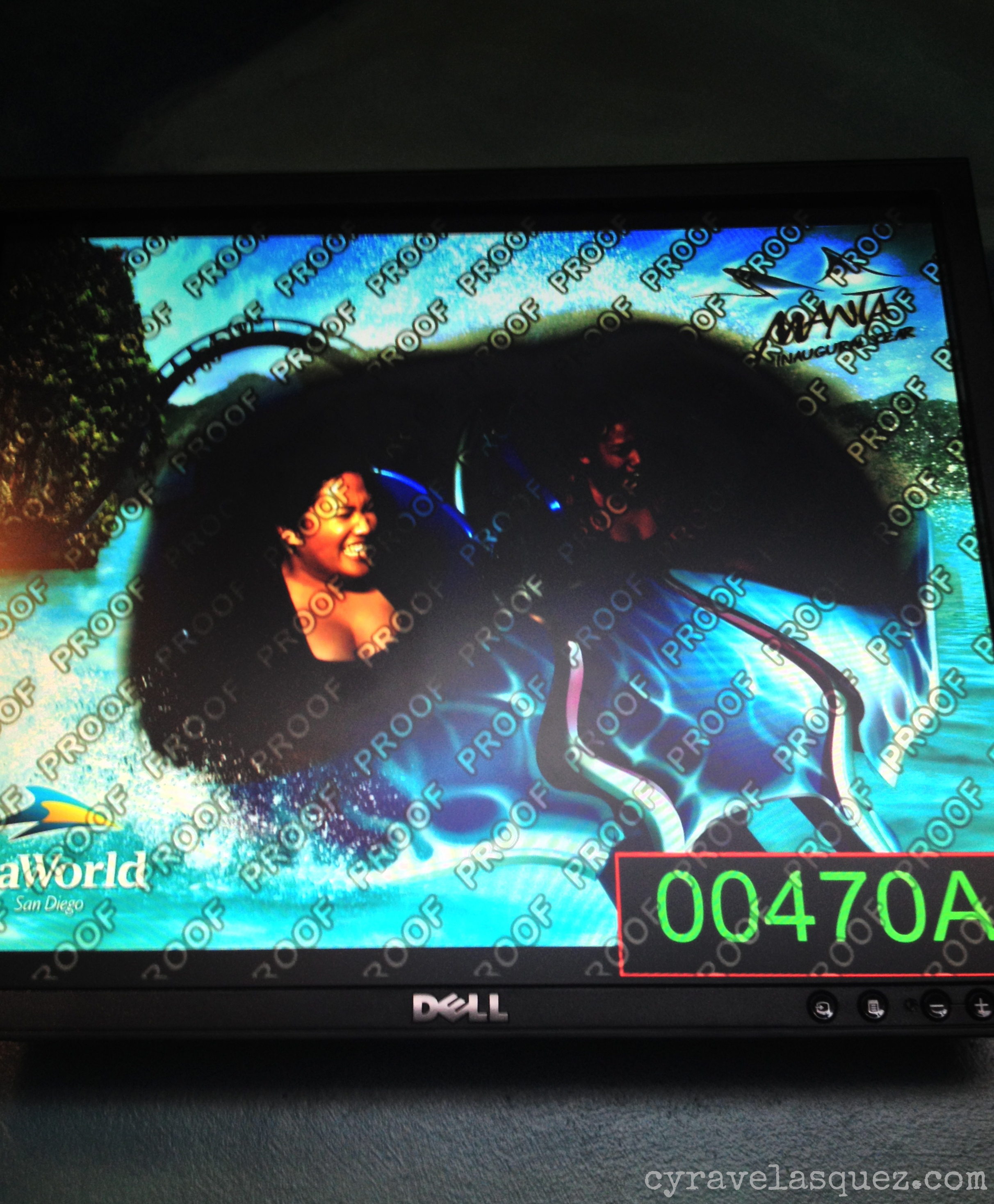 Cyra and Alarisse Velasquez riding the Manta at SeaWorld San Diego.