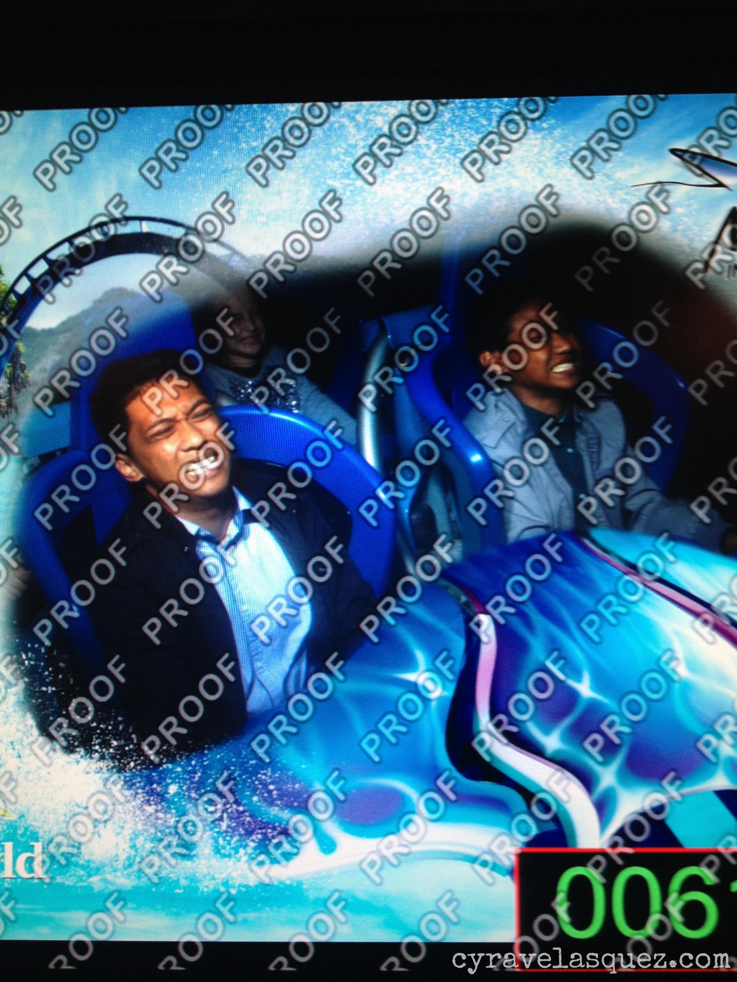 Derek and Brennan Velasquez riding the Manta at SeaWorld San Diego.