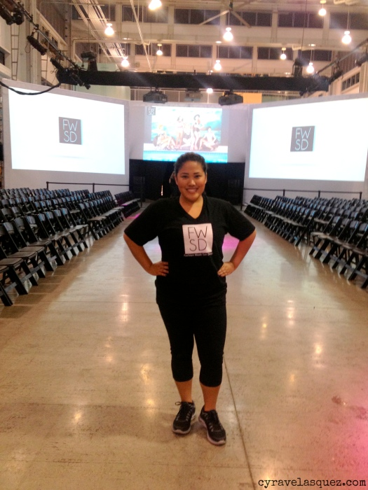 Cyra Velasquez on the Fashion Week San Diego runway at FWSD on Thursday, October 3.