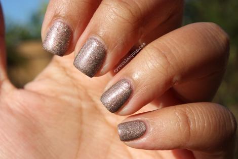 "Cyra Velasquez wearing Formula X For Sephora: ""Ur Square"" nail polish."