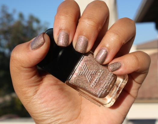 "Cyra Velasquez wearing Formula X For Sephora: ""Ur Square"" nail polish."