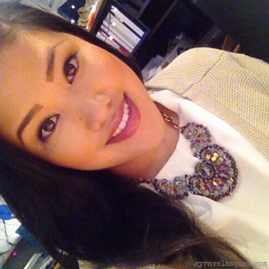 Cyra Velasquez on Christmas Day 2013.