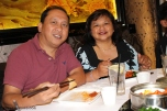 Cyra Velasquez and family eating dim sum at Capital Seafood at the Irvine Spectrum.