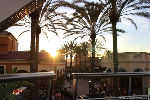 Sunset view from the ferris wheel at the Irvine Spectrum.