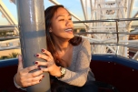 Cyra Velasquez and family riding the ferris wheel at Irvine Spectrum.