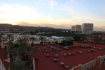 The sunset view from the ferris wheel at Irvine Spectrum.