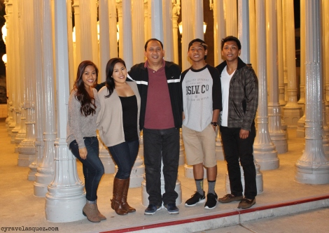 Cyra Velasquez and family at the Los Angeles County Museum of Art (LACMA).