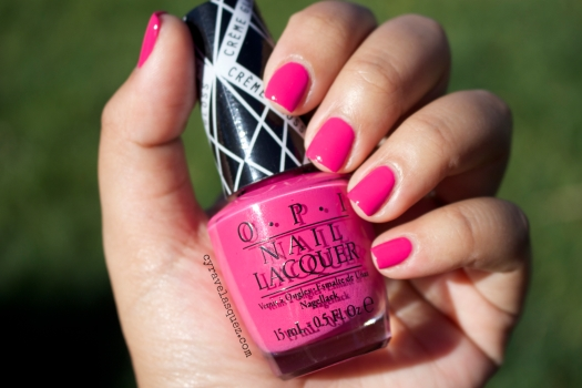 """Hey Baby"" from the Gwen Stefani for OPI nail polish collection, worn by Cyra Velasquez."
