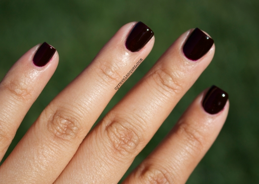 """I Sing In Color"" from the Gwen Stefani for OPI nail polish collection, worn by Cyra Velasquez."