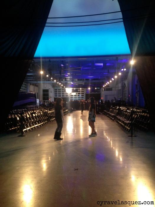 Cyra Velasquez on the runway at Fashion Week San Diego (FWSD).