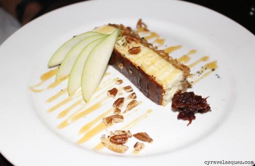 Artisan cheesecake from The Hake restaurant in La Jolla in San Diego, California.