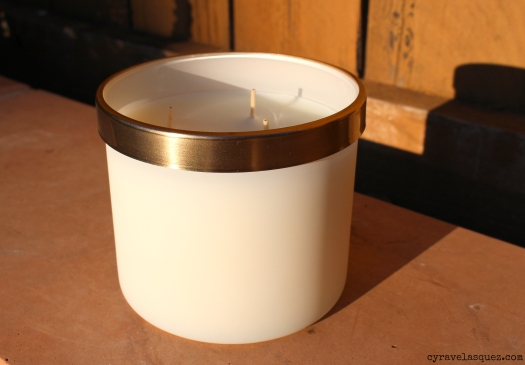 Mountainside Suite cashmere sandalwood candle from Bath and Body Works Prestige collection.