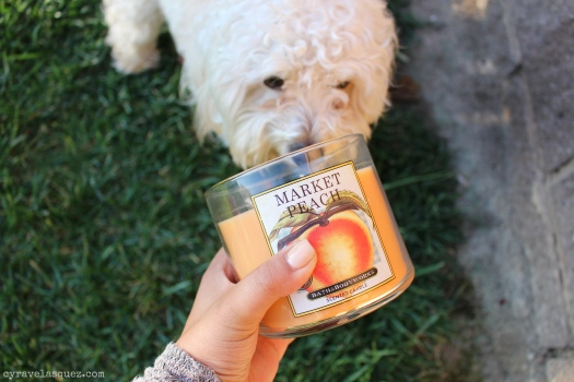 Market Peach candle from Bath and Body Works.