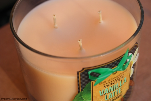 Vanilla Latte candle from Bath and Body Works.