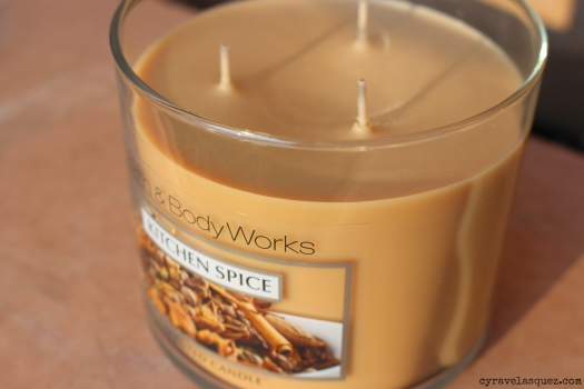 Kitchen Spice candle from Bath and Body Works.