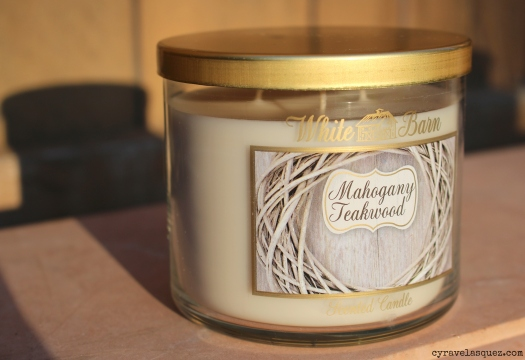 Mahogany Teakwood candle from Bath and Body Works.