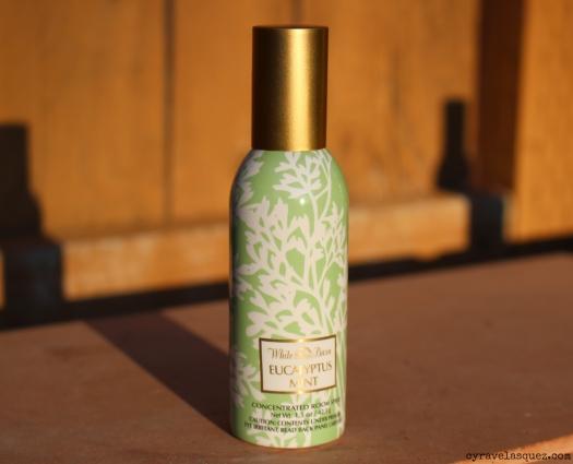 Eucalyptus Mint room spray from Bath and Body Works.