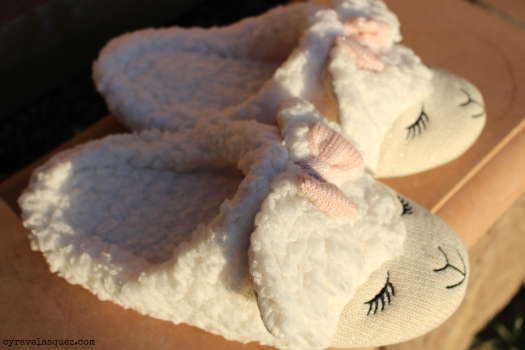 Lamb slippers from Bath and Body Works.