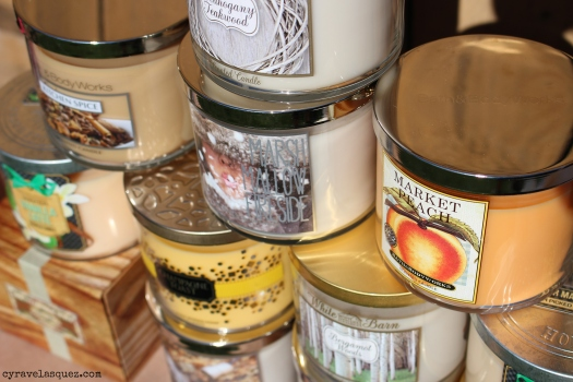 Candles from Bath and Body Works.