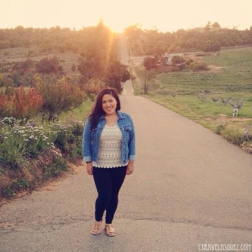 Cyra Velasquez in the countryside of Escondido in San Diego, California.