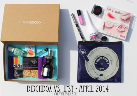 Birchbox and Ipsy Glam Bag for April 2014.