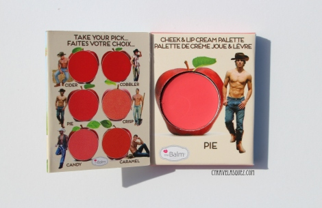 theBalm Cosmetics How Bout Them Apples cheek and lip cream in Pie.