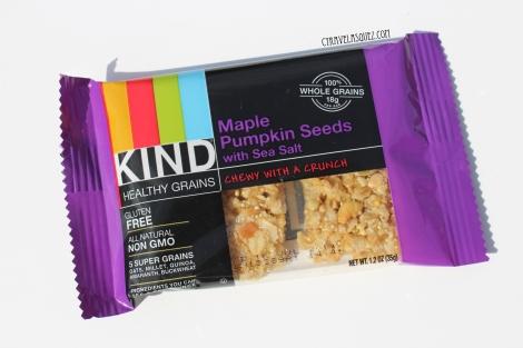 KIND healthy grains maple pumpkin seeds with sea salt.