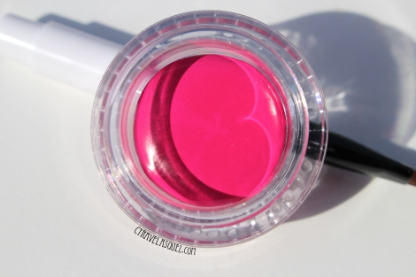 Cailyn Cosmetics tinted lip calm in acid pink.