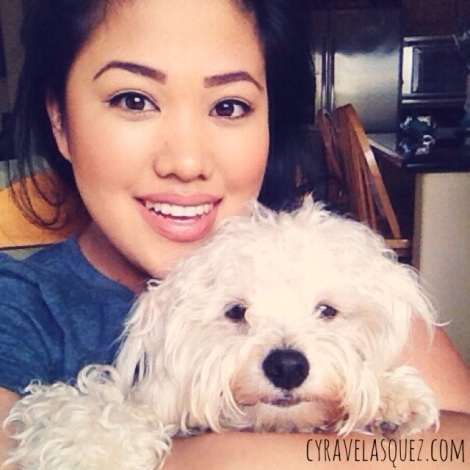 Cyra Velasquez and her dog, Toby.
