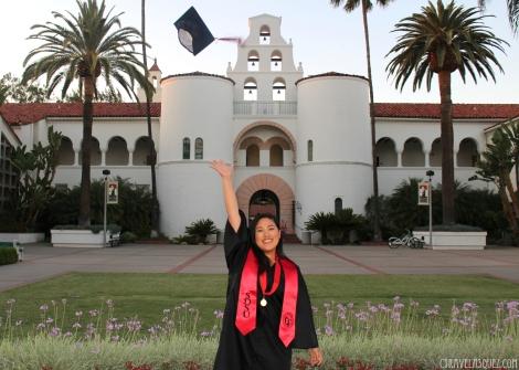 IMG_5410Cyra Velasquez's graduation photoshoot at San Diego State University (SDSU).