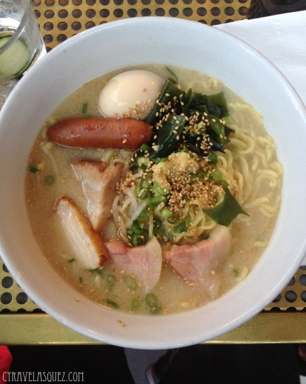 The Underbelly ramen from Underbelly in Little Italy, San Diego, California.